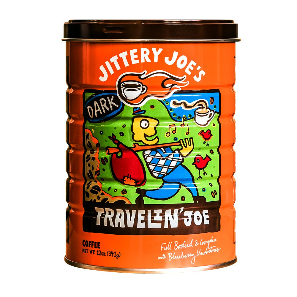 Jittery Joes Coffee Ground Morning Ride 12 Ounce Low Jitter Sige Vcsos Traveling Joe Whole Bean Dark Roast