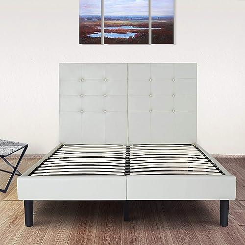 Olee Sleep All New Faux Leather Upholstered Platform Bed Frame
