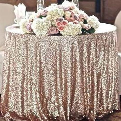 Sensational Diameter 48 Round Champagne Sequin Tablecloths Champagne Sequin Round Table Cloths Champagne Sequin Table Linens For Wedding Home Interior And Landscaping Palasignezvosmurscom