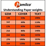 Hamilco White Cardstock Thick Paper - Blank Index