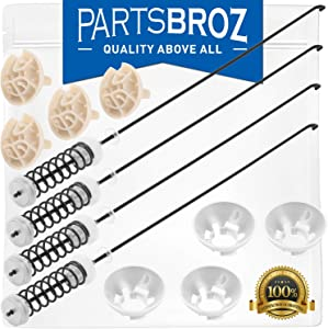 W10780048 Suspension Rod Kit for Whirlpool Washing Machines by PartsBroz - Replaces Part Numbers AP5971398, W10349191, PS11703290, W10257087, W10257088, W10349193, W10748952, W10821948