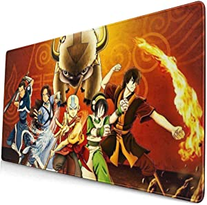 Avatar The Last Legend Airbender of Korra Aang Mouse Pad Pattern Mousepad Non-Slip Rubber Gaming Mouse Pad Rectangle Mouse Pads for Computers Laptop 15.8x29.5 in