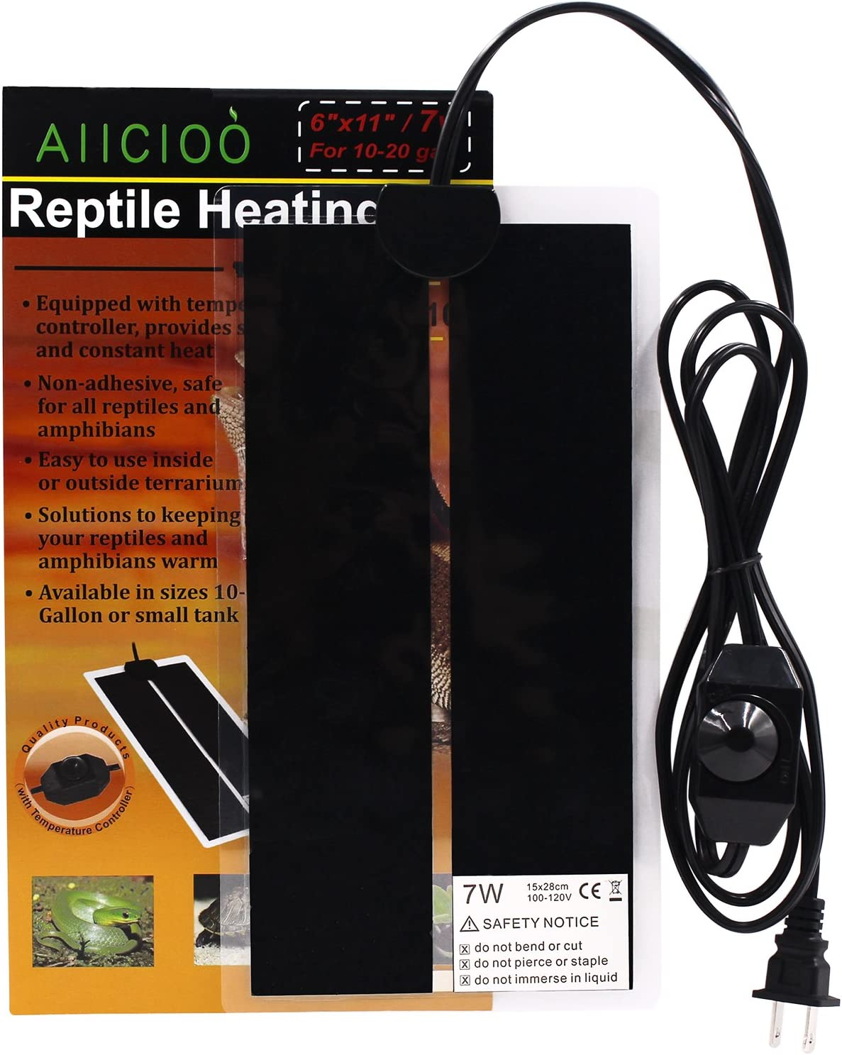 Reptile Heating Pad - 7W Terrarium Heating Pad Warmer With Temperature Control Aiicioo Electric Heating Pad For Reptile