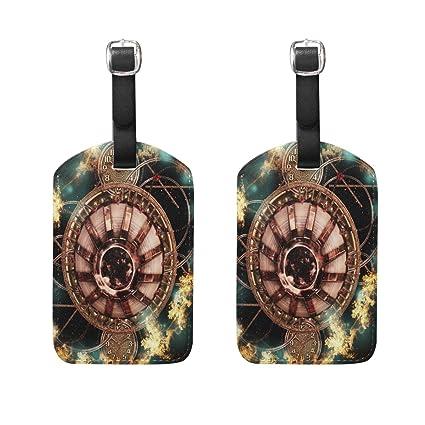 Amazon com | Magic Time Galaxy Clock Luggage Tags Travel
