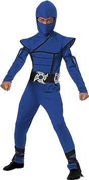 California Costumes Stealth Ninja Child Costume (Blue), Medium