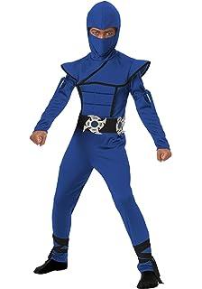 Amazon.com: Charades Childs Ninja Avenger Costume, Blue ...