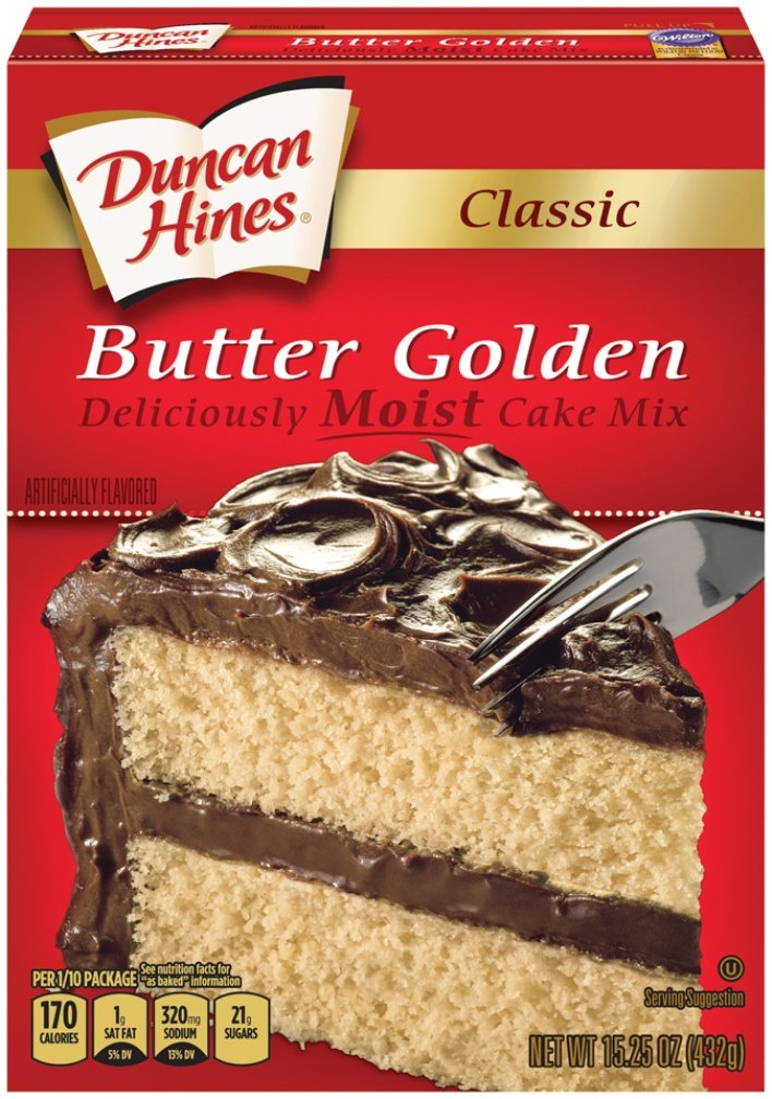 Duncan Hines Classic Cake Mix, Butter Golden, 15.25 Ounce (Pack of 12)