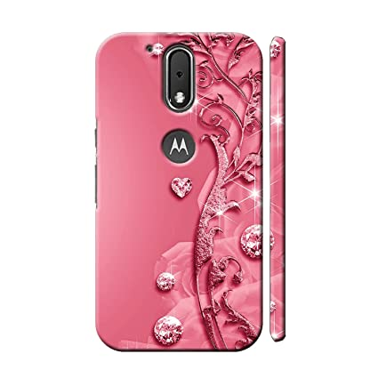 new arrival 4a68e 85dc8 Clapcart Moto G4 Plus Designer Printed Mobile Back Cover for Motorola Moto  G4 Plus/Moto G 4th Generation/Moto G Plus 4th Gen - Pink Color (Heart ...