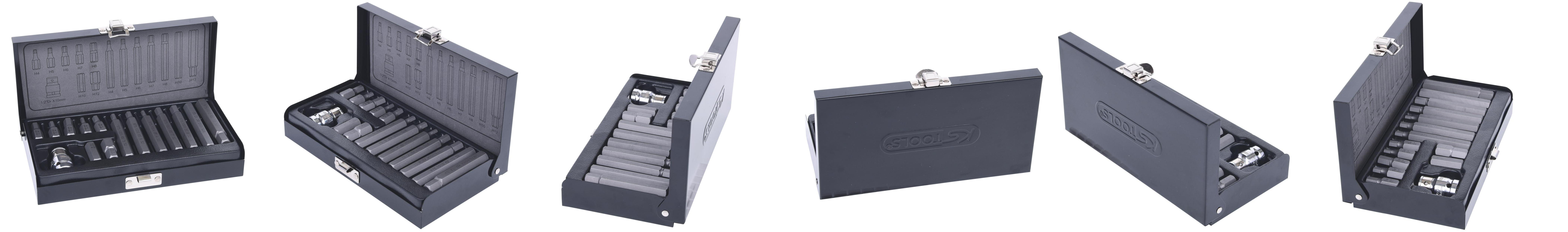 Confezione da 5 5 mm 1//4 75 mm KS Tools 911.7759 Inserto Classic per Viti a Esagono Incassato 2