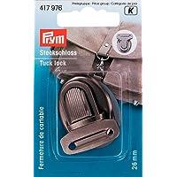 Prym 417976Ranuras Candado 26mm, Plata Envejecida