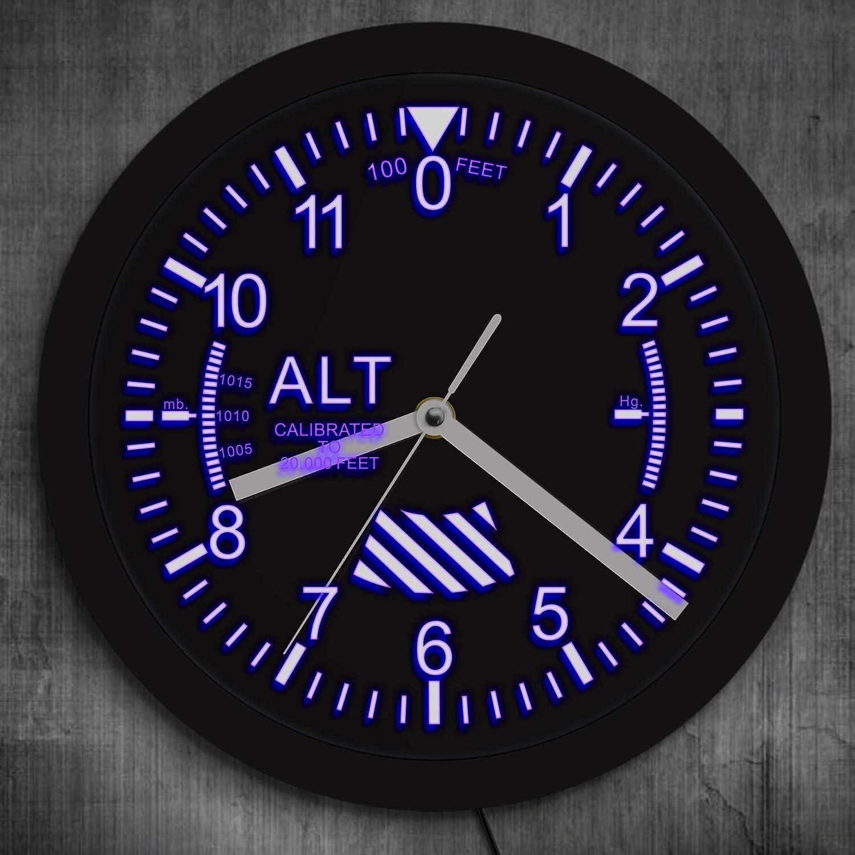 Trintec Vintage Altimeter Altitude Wall Clock 6.5 Square 9060V