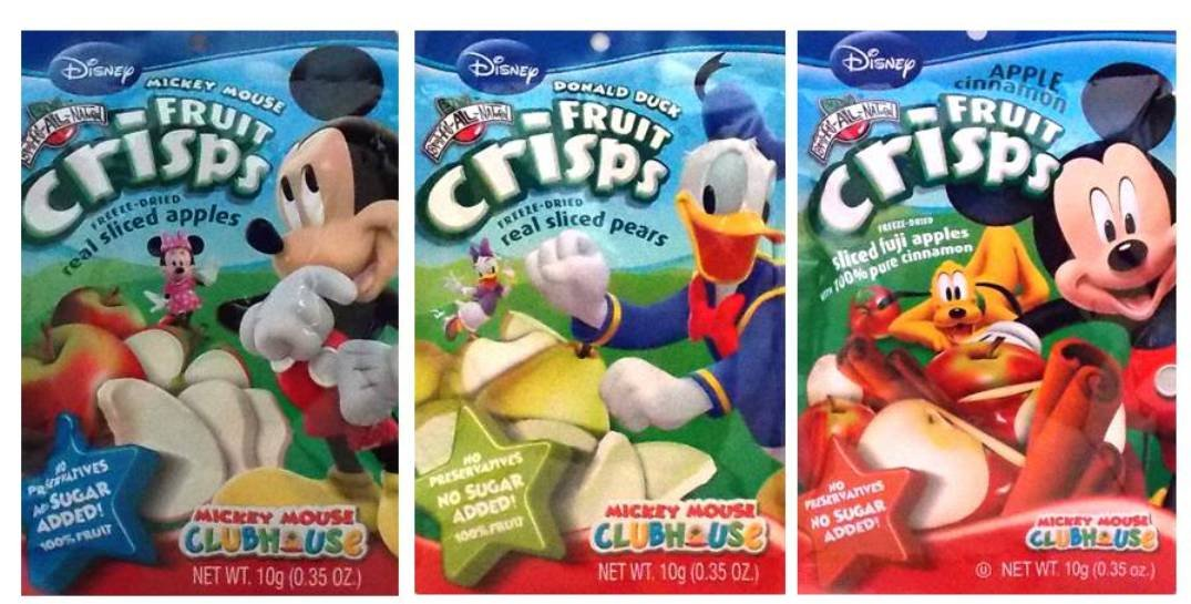Brothers-ALL-Natural Freeze Dried Fruit Crisps Disney 3 Flavor Variety 6 Bag Bundle: (2) Mickey Mouse Fuji Apple Cinnamon, (2) Donald Duck Pear, and (2) Mickey Mouse Apple.35 Oz. Ea. (6 Bags Total)