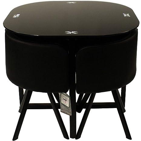 Juego de mesa de comedor Charles Jacobs con 4 sillas ...