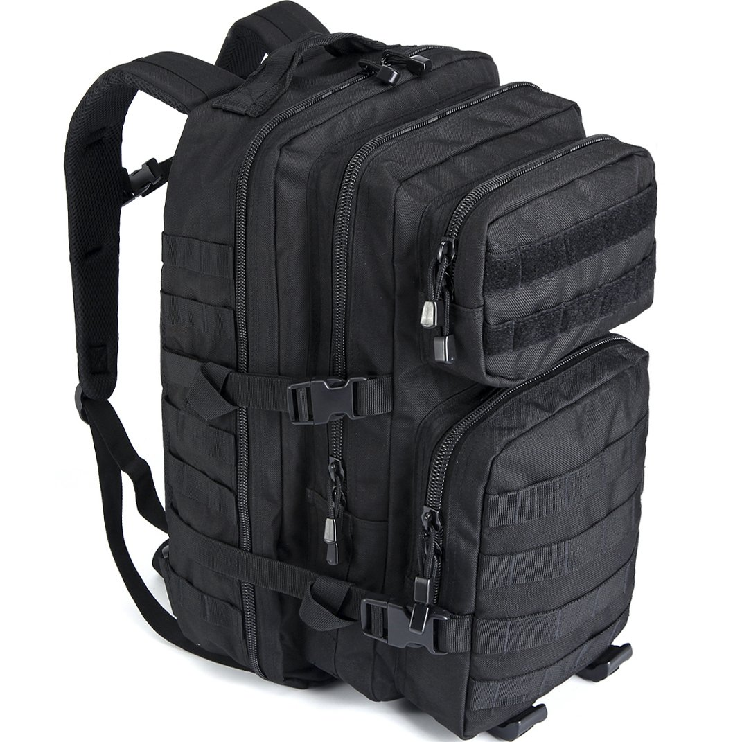 WIDEWAY Tactical Backpack 50L Military Outdoor Assault Gear Large Black Molle Hydration Tactical Gear