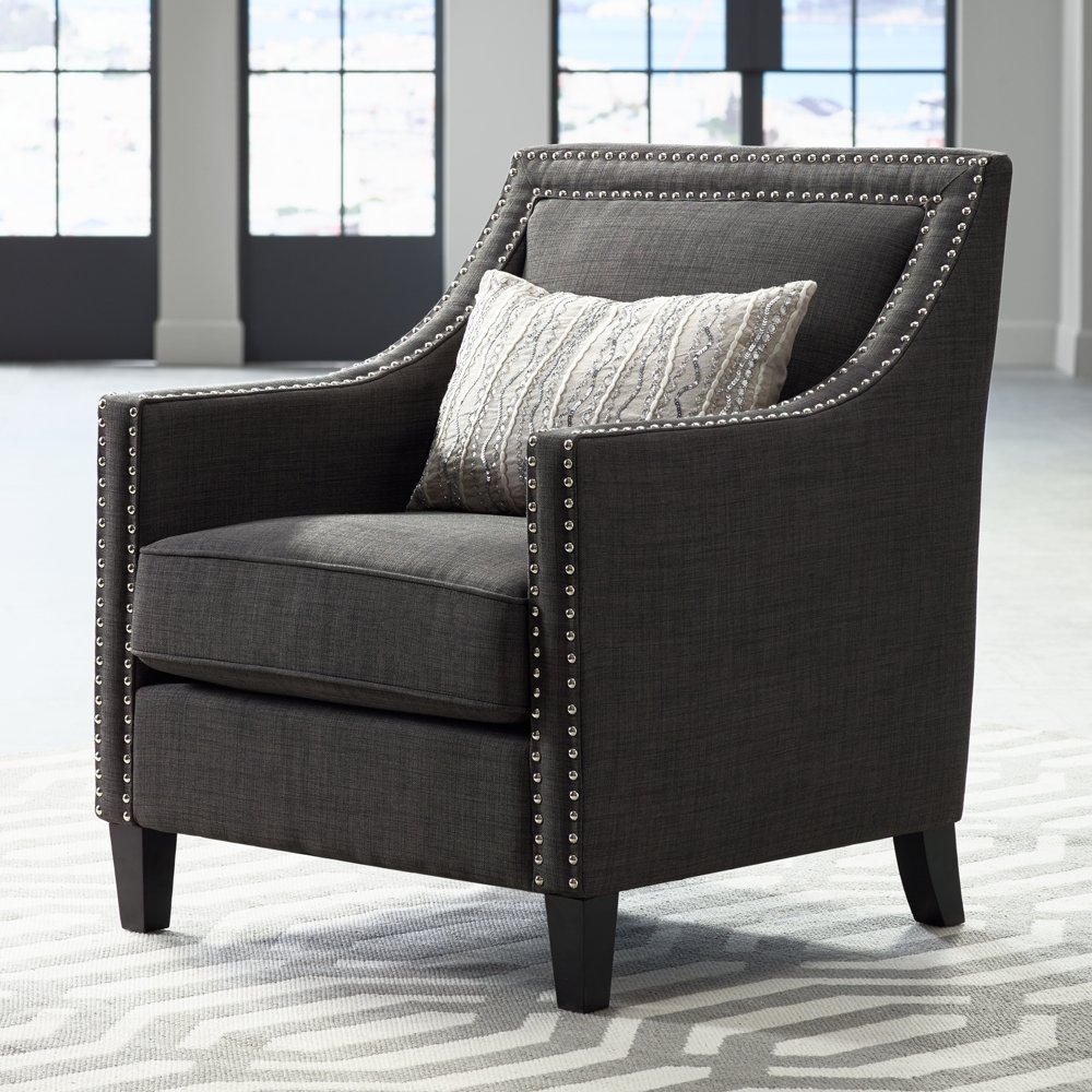 Bon Amazon.com: Flynn Heirloom Charcoal Upholstered Armchair: Kitchen U0026 Dining