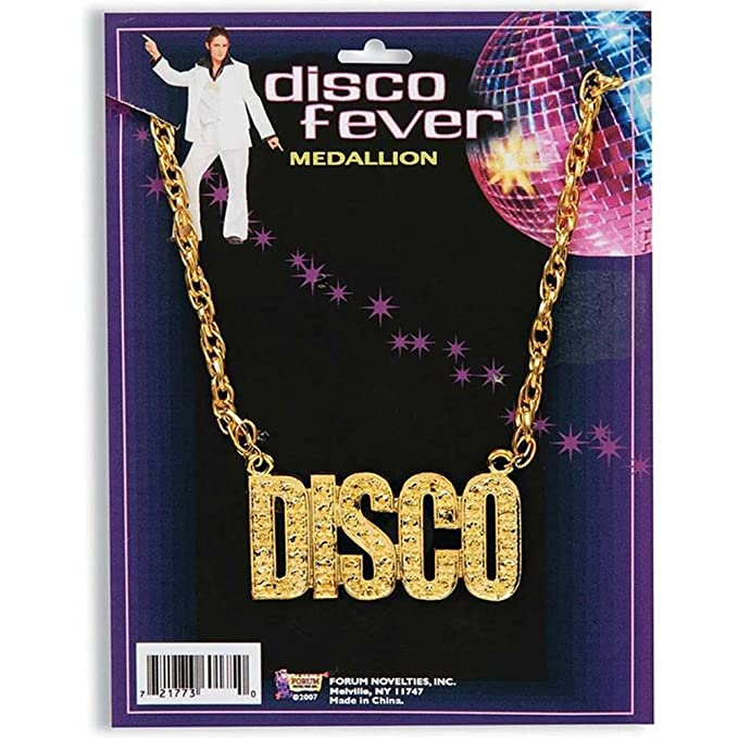 70s Costumes: Disco Costumes, Hippie Outfits  Unisex Disco Necklace Forum Novelties $4.50 AT vintagedancer.com