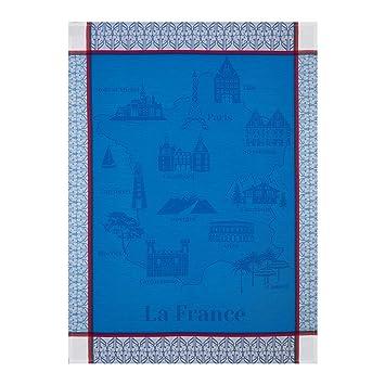 Le Jacquard Francais paño Balade en Francia, algodón peinado, azul, 80 x 60 cm: Amazon.es: Hogar