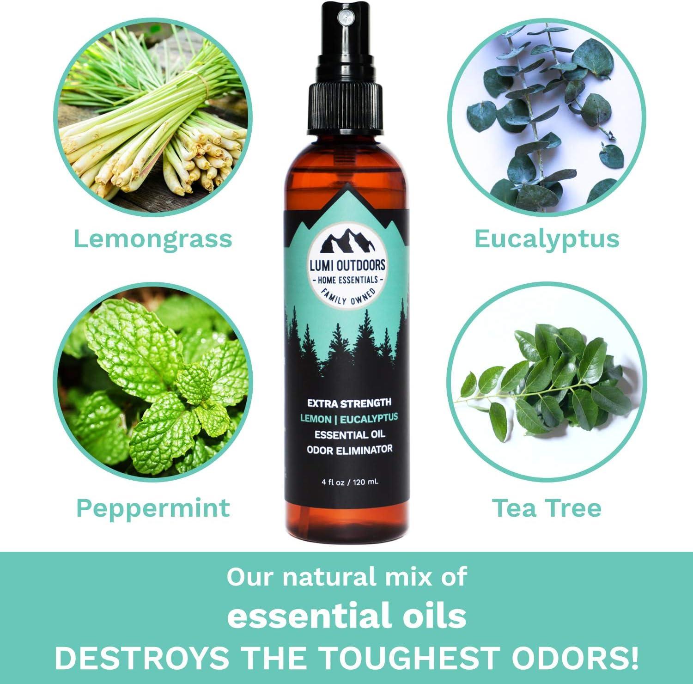 Natural Shoe Deodorizer Spray, Foot Odor Eliminator and Air Freshener - Organic Lemongrass, Mint, Tea Tree Essential Oils