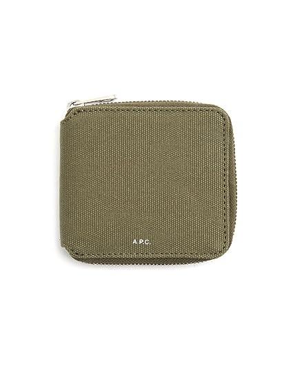 A.P.C. - Portemonnaies - Herren - Kompakte Geldbörse mit Reißverschluss  khaki für herren - TU 405be5a487