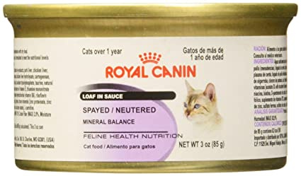 Royal Canin Feline Health Nutrition Loaf In Sauce - Spayed/Neutered - Pork - 3