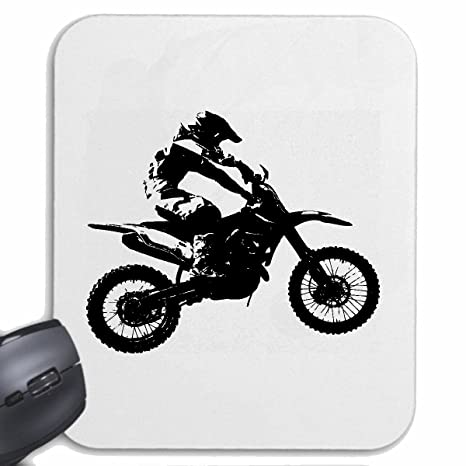 Tapis 125cc Moto mauspad Souris De Silhouette Motocross Mousepad awarqCH