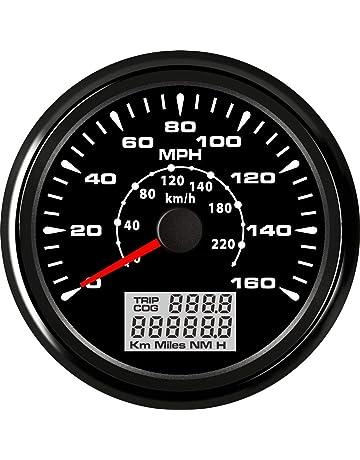 ELING Universal GPS Speedometer Gauge 160MPH 220KM/H Trip Counter Odometer for Car Racing Motorcycle