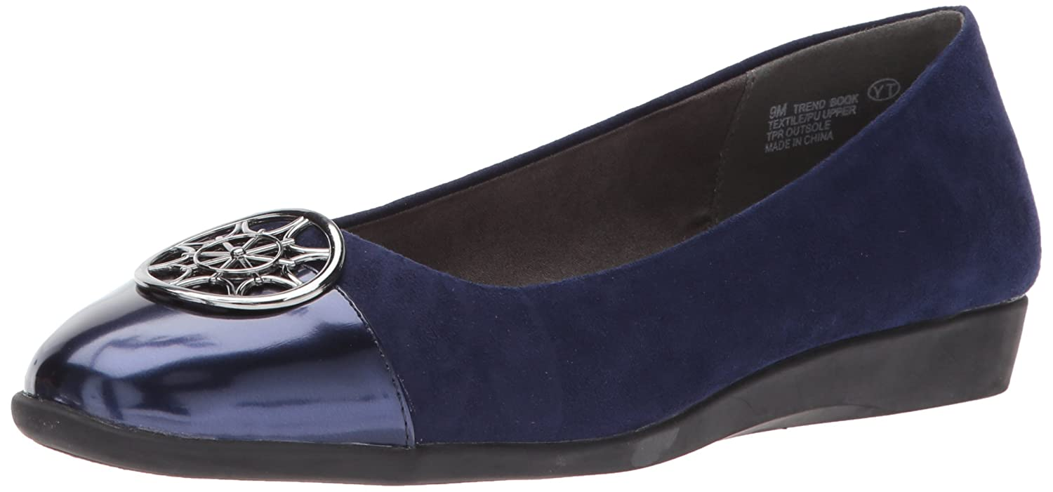 Aerosoles A2 by Women's Trend Book Ballet Flat B071DXPQQ1 7 W US|Blue Combo