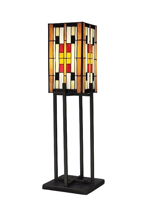 Amazon.com: Dale Tiffany tt13190 Isles of Eden lámpara de ...