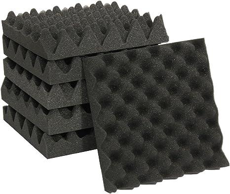 XZANTE 25X25X5CM espuma de aislamiento de sonido caja de carton estudio de espuma acustica tratamiento de aislamiento de sonido huevo perfil cuna: Amazon.es: Instrumentos musicales