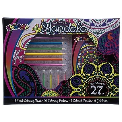 Buy Sk\'oodle Kids Activity Sets Mandala Adult Coloring Kit ...