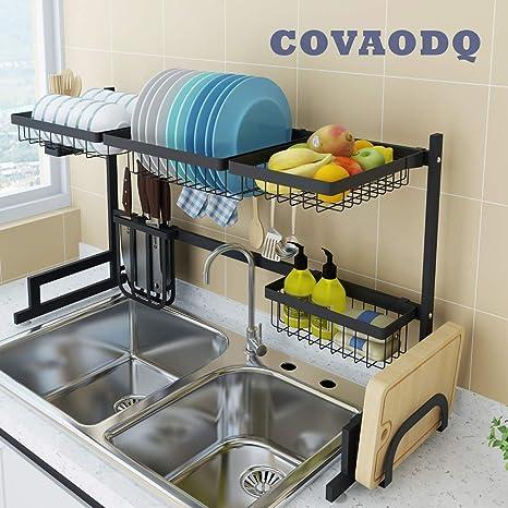 Amazon.com: Escurreplatos sobre fregadero, estante de ...