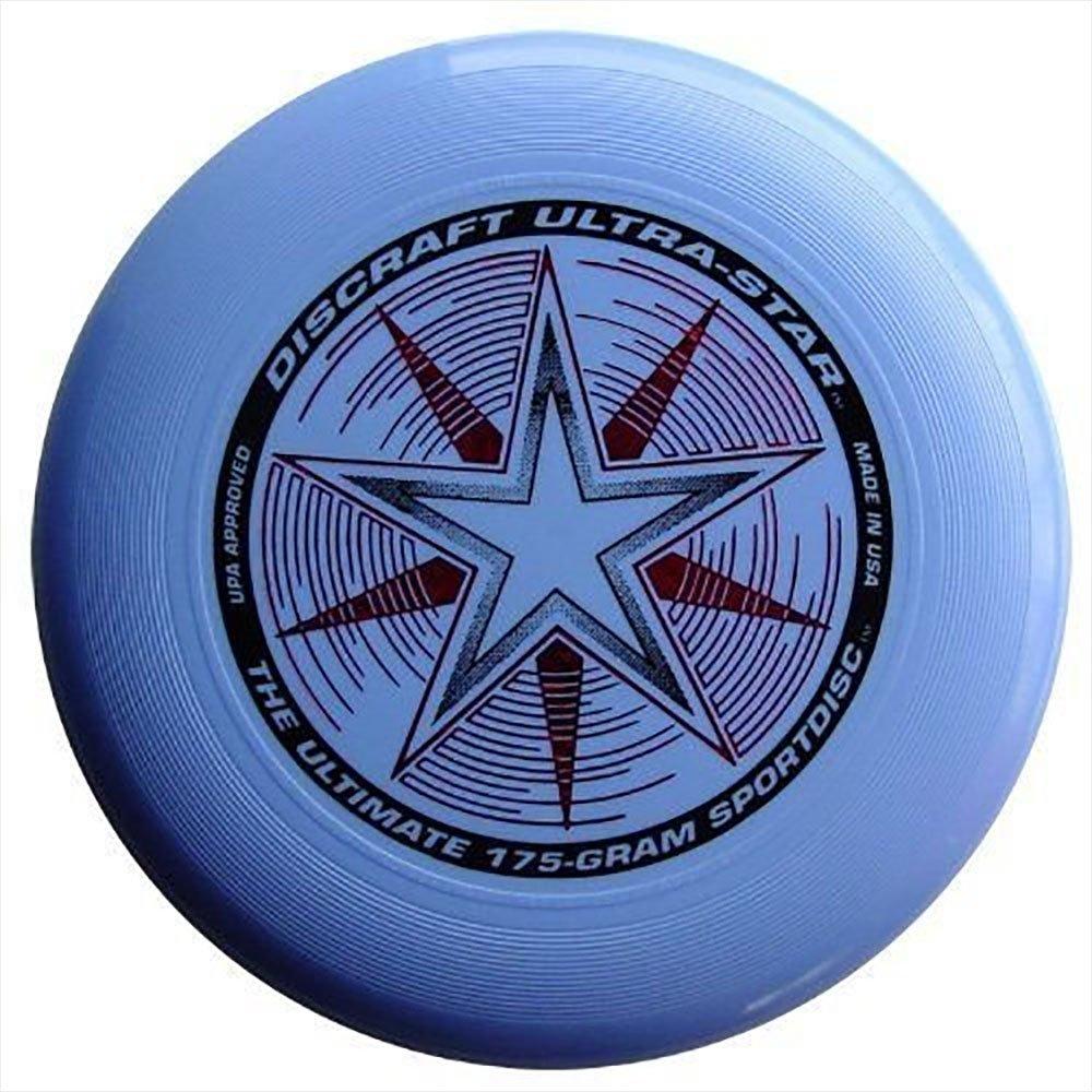 Frisbee Profesional Discraft 175 Gramos / 27cm. Ultra Star Sport Disc Celeste