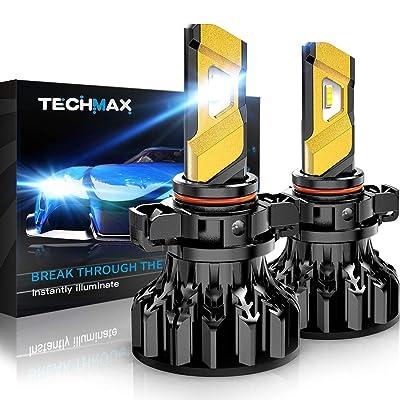 TECHMAX H16 LED Headlight Bulb,5202 European Type 12000Lm 6500K Xenon White Conversion Kit of 2: Automotive