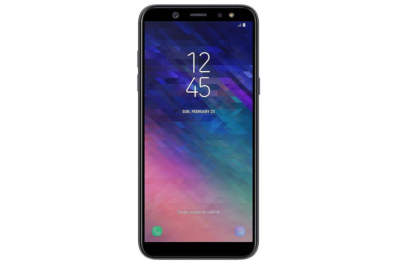 三星Galaxy A6(2018)智能手机,32 GB可扩展,双卡,黑色(黑色)[英文版]