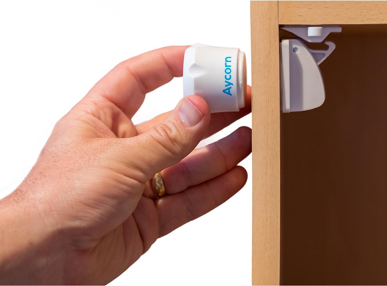 Bonus Corner Protectors /& Door Finger Safes. Baby Home Safety Invisible Cupboard Support | Child 8+2 keys 20-Piece Set Magnetic Baby Safety Cupboard Locks /& Bonus Babyproof Kit Infant