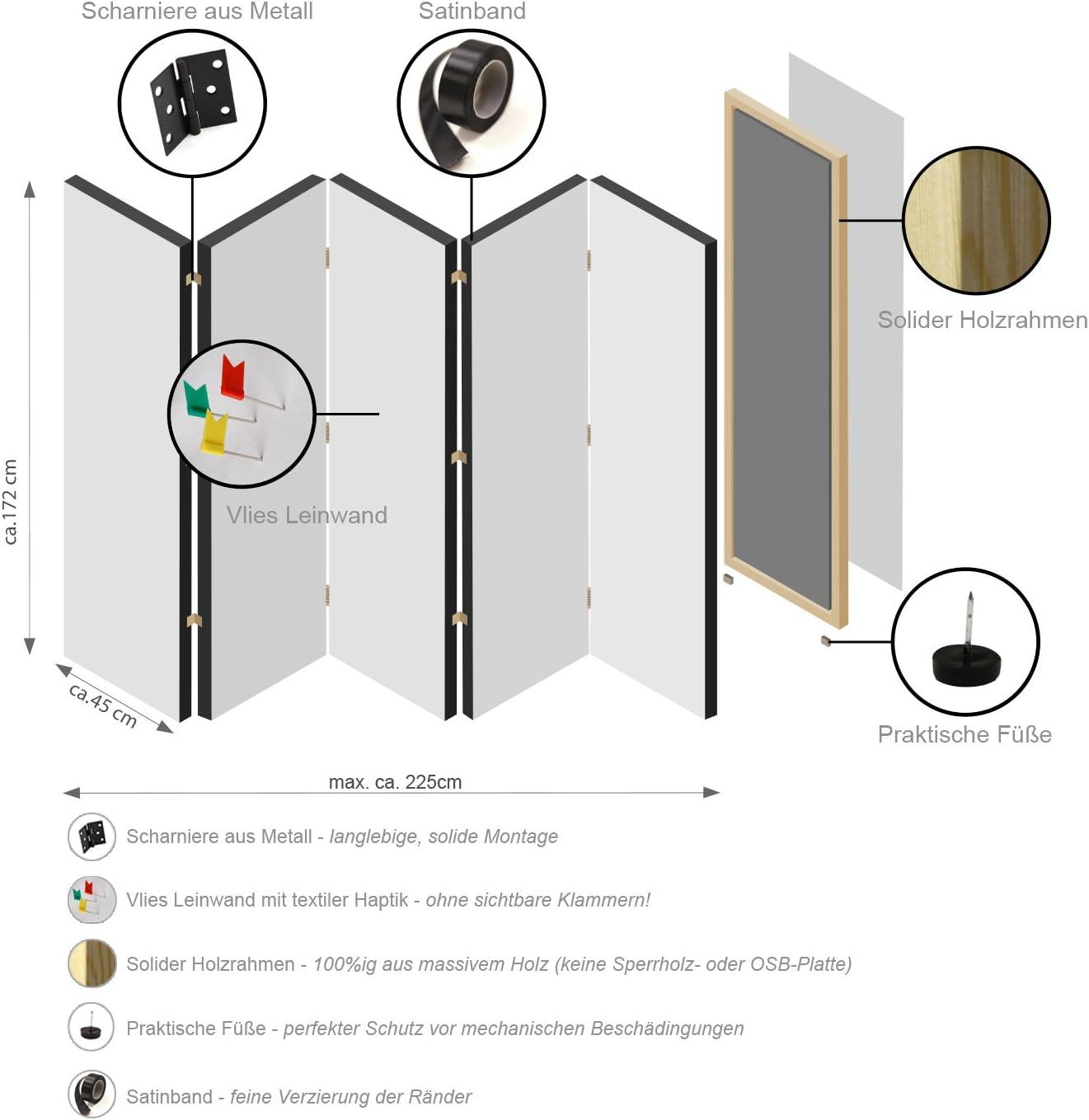 murando Paravent /& Tableau daffichage en Liege Fleurs 135x172 cm R/éversible Impression Recto-Verso sur Toile intiss/ée 100/% Opaque Foto Paravent decoratif en Bois avec Spa b-B-0283-z-b