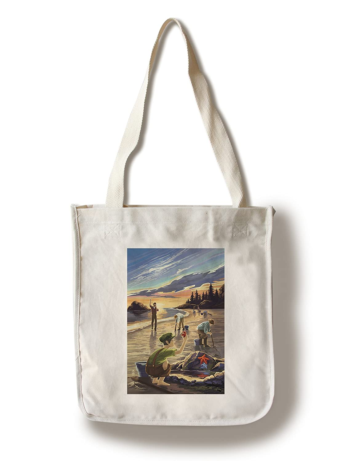 Clam Diggers ( Tidepool ) Canvas Tote Bag LANT-36573-TT B01841S0QM  Canvas Tote Bag