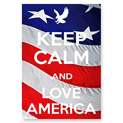 2e26152b1e3 Image Unavailable. Image not available for. Color  KEEP CALM AND LOVE AMERICA  postcard set of 20 identical postcards. Quality post card pack