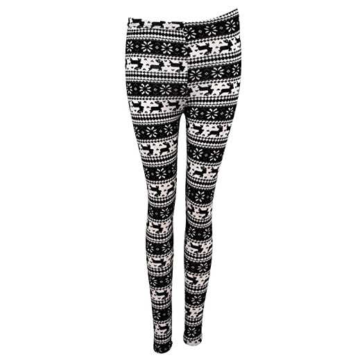 5fb6f22ee49a4 Amazon.com: Knitted Snowflake Pattern Leggings: Clothing