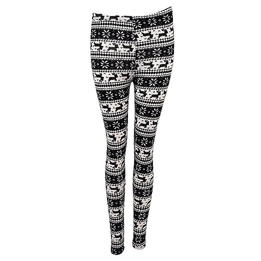 Amazon Knitted Snowflake Pattern Leggings Clothing