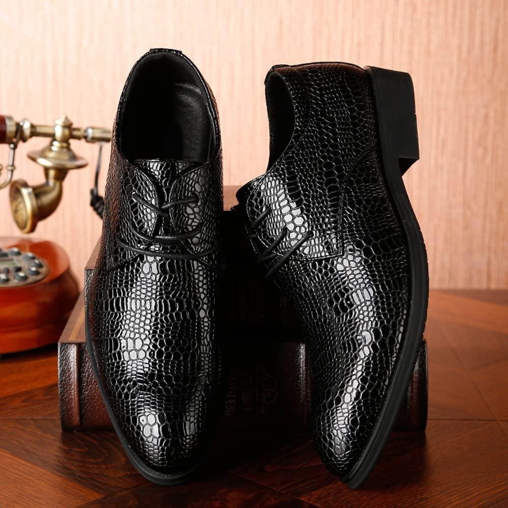 Mens Elegant Buckle Loafers Mens PU Leather Shoes Crocodile Skin Texture Amphetamine Lace Up Breathable Business Low Top Seamed Oxfords Fashion Moccasin Slippers