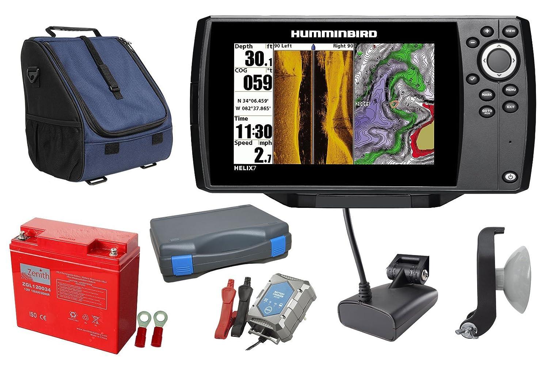 Humminbird Helix 7 SI GPS Echolot (83/200 + 455 kHz) 1 portable ...