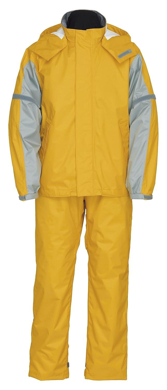 スプルース レインスーツ 全3色 全6サイズ レインスーツ イエロー L 防水 2層レイヤー 収納袋付き 9770 [正規代理店品] B018JRCU0S Large|イエロー イエロー Large