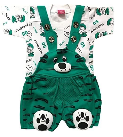 1f09d91c50ea BabyMart Baby Girls Baby Boys High Quality Printed Cotton Dungaree ...
