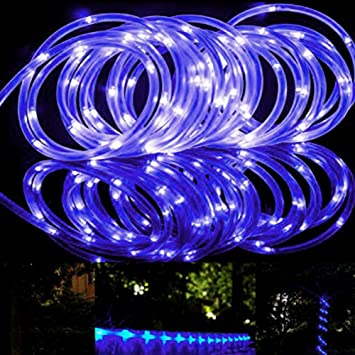 Amazon solar power rope lights outdoor 10m string tube led solar power rope lights outdoor 10m string tube led purple lighting landscape waterproof light for aloadofball Image collections