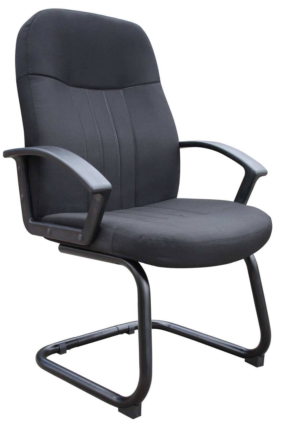 Boss Office Products B8309-BK Mid Back Fabric Guest Chair in Black