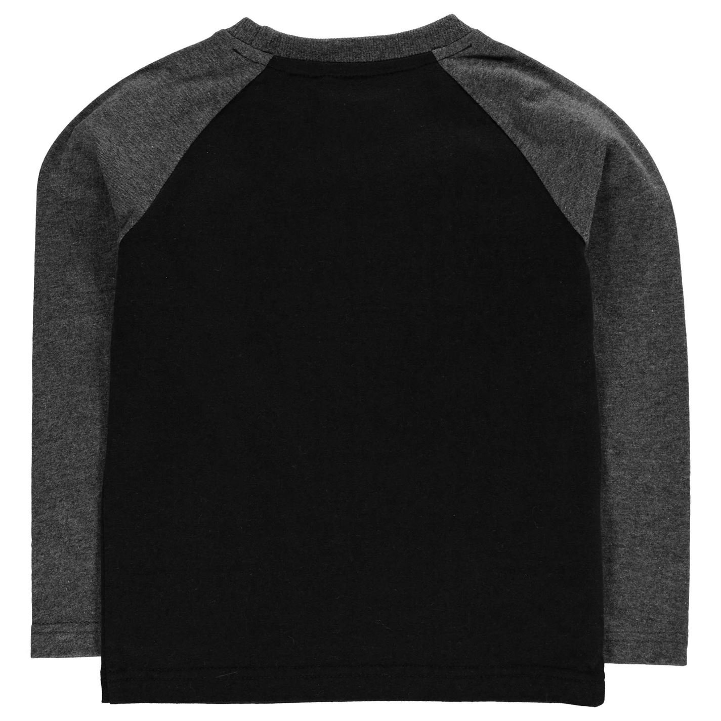 Lonsdale Niños Crst Top Camiseta Manga Larga Negro/Carbón 5-6 años ...