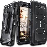 LG X Power 2 / Fiesta 2 / X Charge / Fiesta LTE / K10 Power Case, COVRWARE [Aegis Series] w/ Built-in [Screen Protector] Heavy Duty Full-Body Rugged Holster Armor Case [Belt Clip][Kickstand], Black