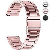 Fullmosa Cinturino Orologio con Sgancio Rapido, Cinturino in Acciaio Inossidabile 16 mm, 18 mm, 20 mm, 22 mm e 24 mm 20mm Oro rosa