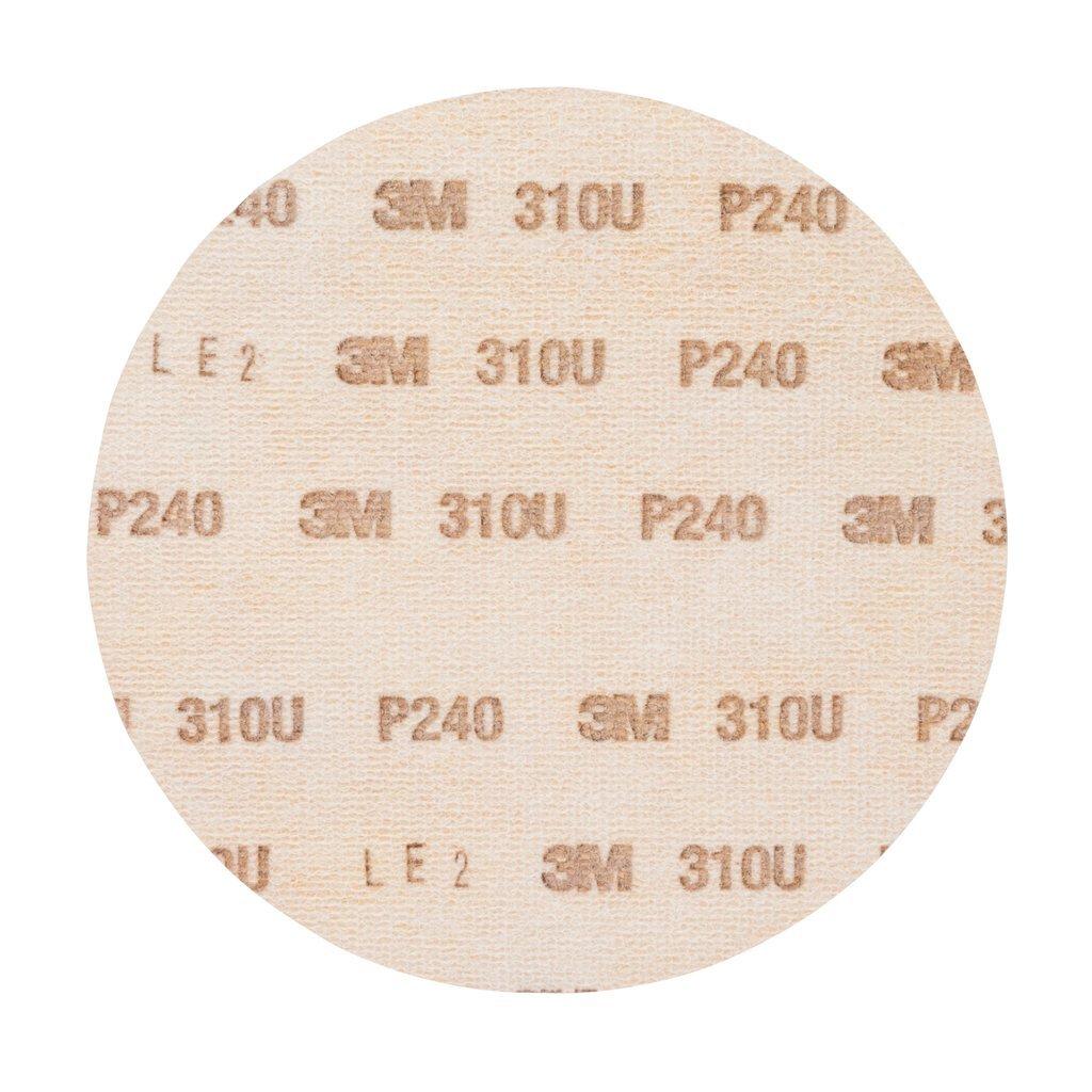 Plein 150 mm 100 disques // boite Disque abrasif support papier 3M Hookit 310U Grain 240